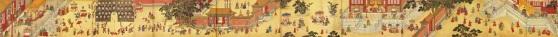 Esta pintura, feita por um pintor da corte imperial em 1485, descreve o imperador Chenghua desfrutando as festividades com famílias na Cidade Proibida durante o Festival das Lanternas Tradicionais. Inclui performances acrobáticas, óperas, shows de magia e provocando fogos de artifício.