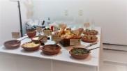 Mesa do coquetel de inauguração do Studio Giannoni